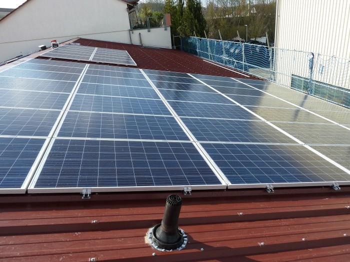 Montage der Photovoltaikanlage
